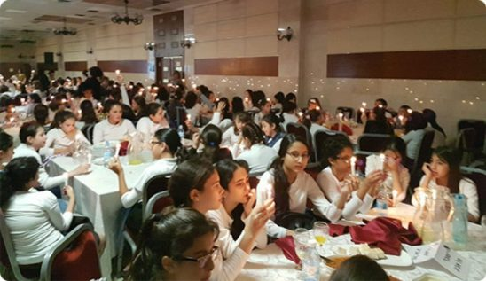 300 Shuvu girls celebrate their Bat Mitzvah